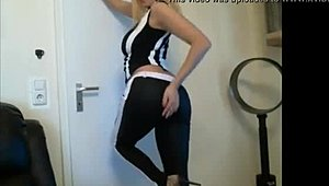 Webcam Mother in Tight Black and White Pants