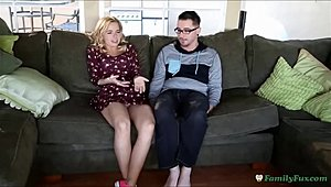 Adorable mommy Step mommy Instructs Step Daughter How to screw her bro
