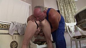 Shaggy Anal Granny sexing her married man XXX Porn